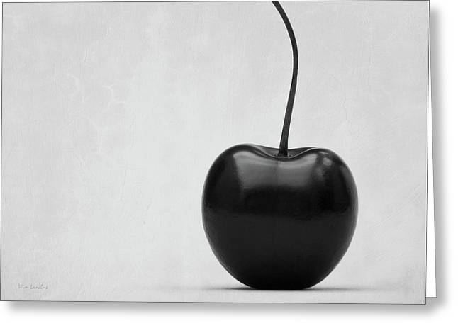 Black Cherry Greeting Card by Wim Lanclus