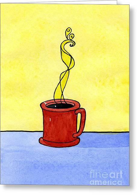 Appleton Art Greeting Cards - Black Coffee Greeting Card by Norma Appleton