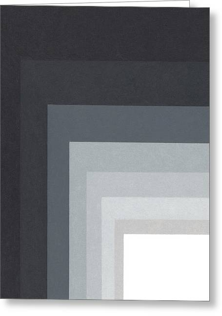 Gradations Drawings Greeting Cards - Black Corner 4 Greeting Card by Sandi Hauanio
