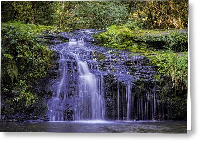 Jeremy Greeting Cards - Black Devon Waterfalls Greeting Card by Jeremy Lavender Photography