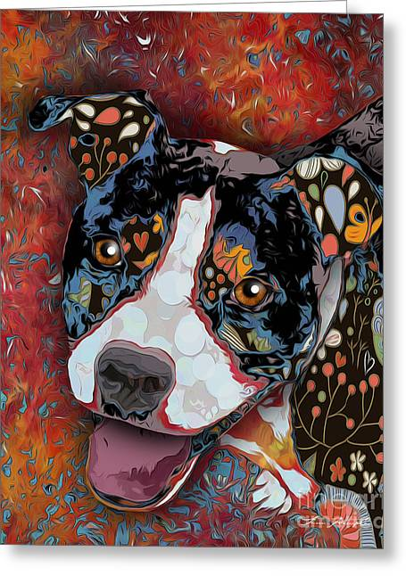 Dogs Digital Greeting Cards - Black Dog 2 Greeting Card by Tim Wemple