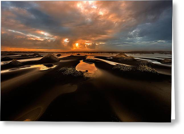 Iceberg Greeting Cards - Black Dunes Greeting Card by David Martin Castan