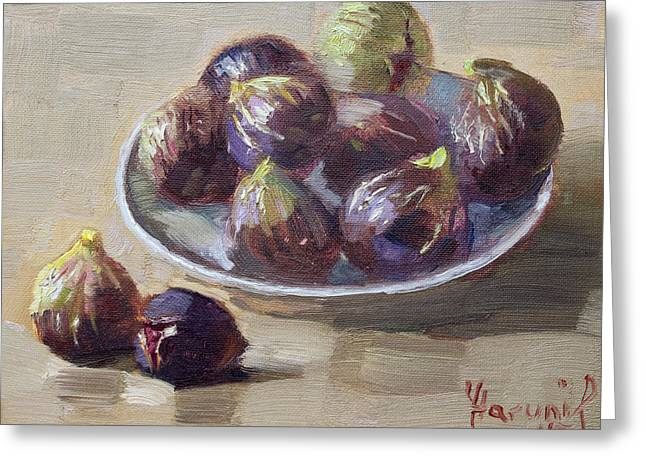 Fig Greeting Cards - Black Figs Greeting Card by Ylli Haruni