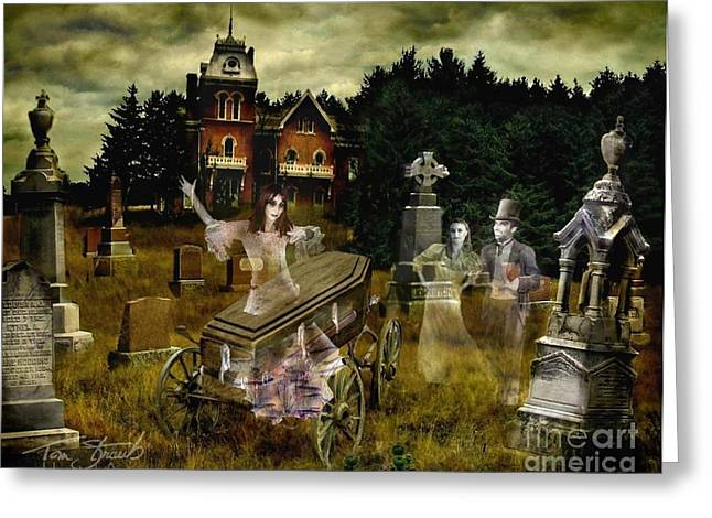 Haunted House Digital Art Greeting Cards - Black Fly Greeting Card by Tom Straub