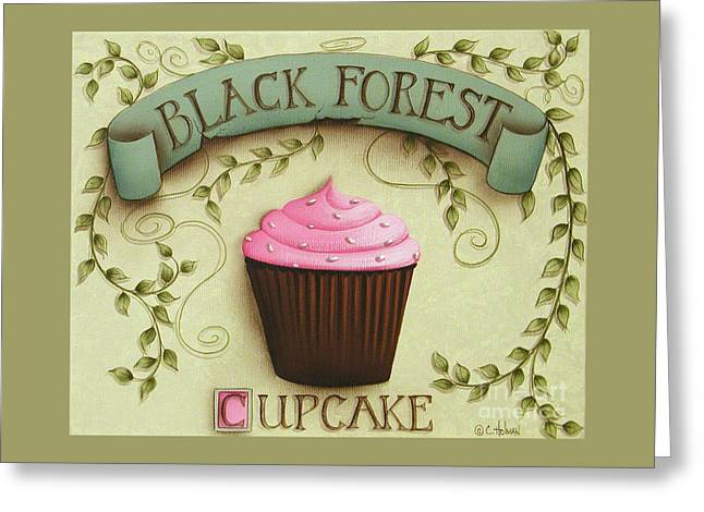 Catherine Holman Greeting Cards - Black Forest Cupcake Greeting Card by Catherine Holman