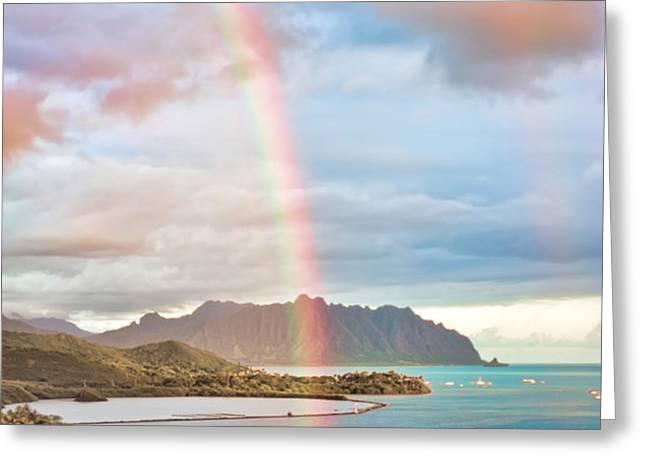 Black Friday Rainbow Greeting Card by Dan McManus