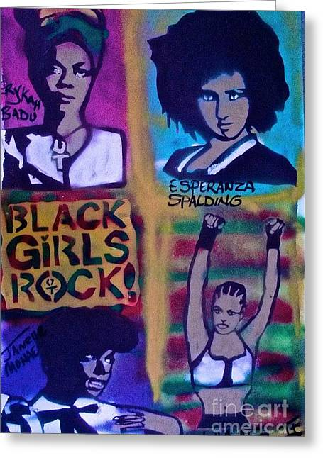 First Love Greeting Cards - Black Girls Rock Greeting Card by Tony B Conscious