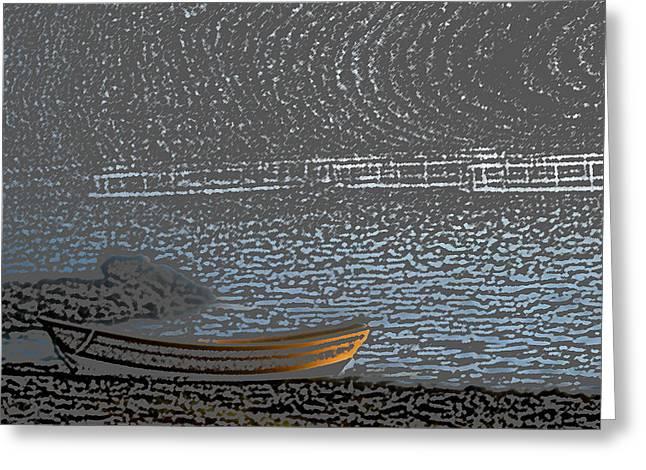 Black Harbour Nb Greeting Card by Roger Charlebois