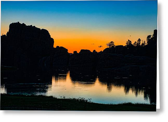 Sunset Posters Greeting Cards - Black Hills Sunset Greeting Card by Paul Freidlund