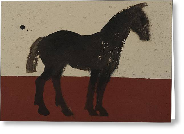 Soot Greeting Cards - Black Horse Greeting Card by Sophy White