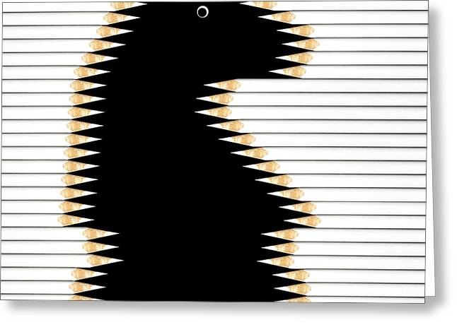 Game Greeting Cards - Black Knight Greeting Card by Udo Dittmann
