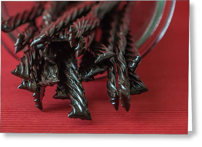 Black Licorice Greeting Card by Maggie Terlecki