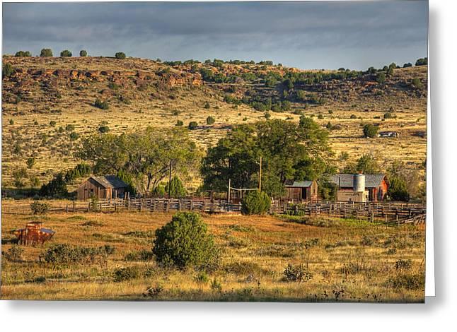 Charles Warren Greeting Cards - Black Mesa Ranch Greeting Card by Charles Warren