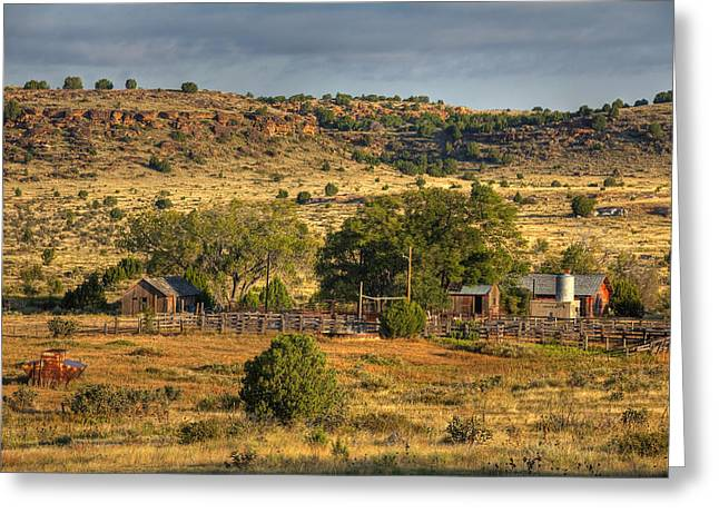 Black Mesa Ranch Greeting Card by Charles Warren