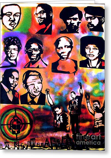 Free Speech Greeting Cards - Black Revolution Greeting Card by Tony B Conscious