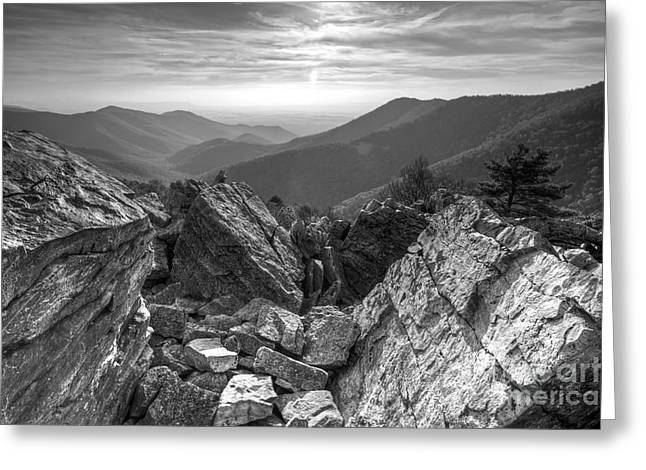 Shenandoah National Park Greeting Cards - Black Rock Mountain Shenandoah National Park Greeting Card by Dustin K Ryan