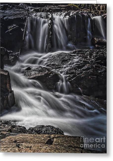 Watermelon Greeting Cards - Black Rocks White Water Greeting Card by Mitch Shindelbower