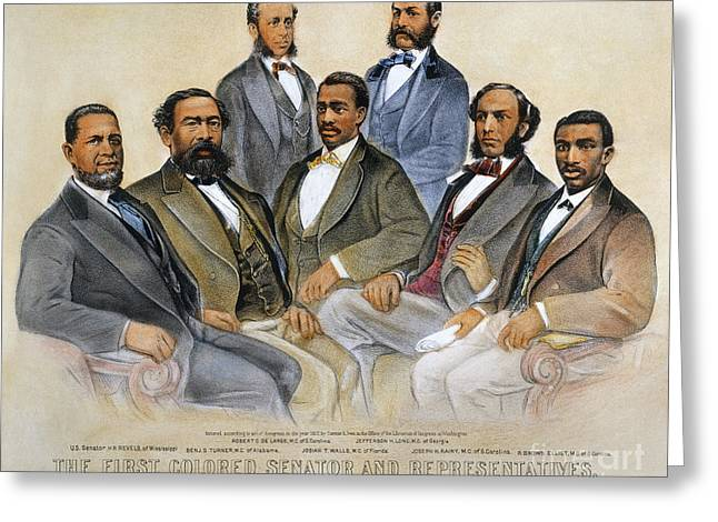 American Politician Photographs Greeting Cards - Black Senators, 1872 Greeting Card by Granger