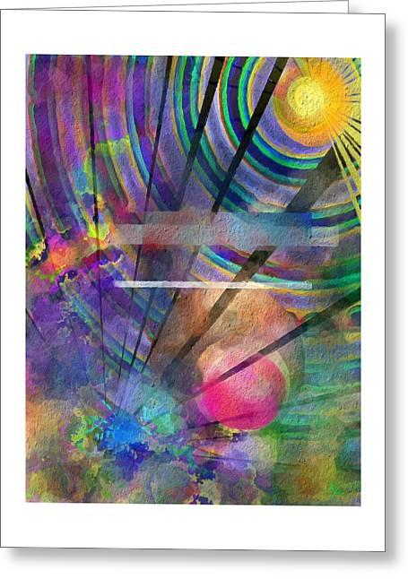 Monolith Greeting Cards - Black sunshine  Greeting Card by Ryan Reschke