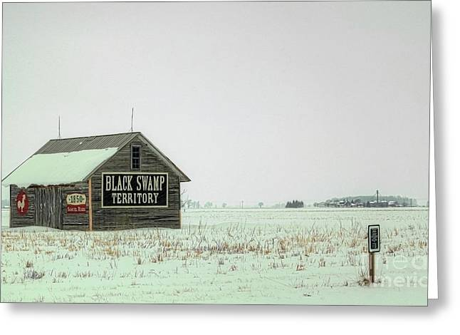 Shed Digital Art Greeting Cards - Black Swamp Territory Greeting Card by Valencia Photography
