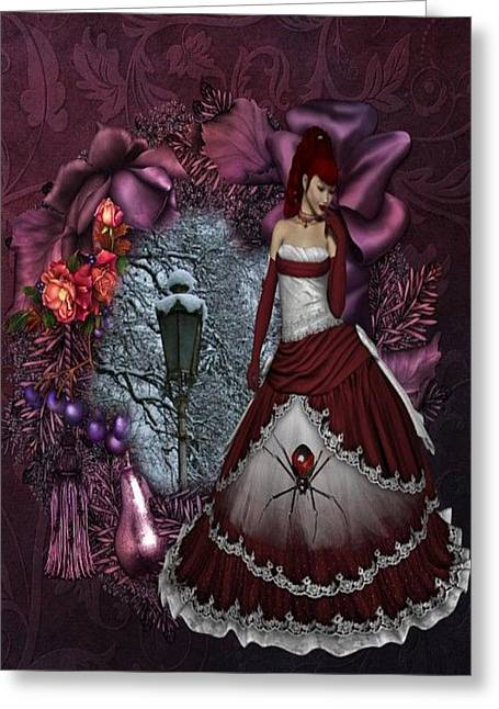 Black Widow Greeting Cards - Black Widow Greeting Card by G Berry