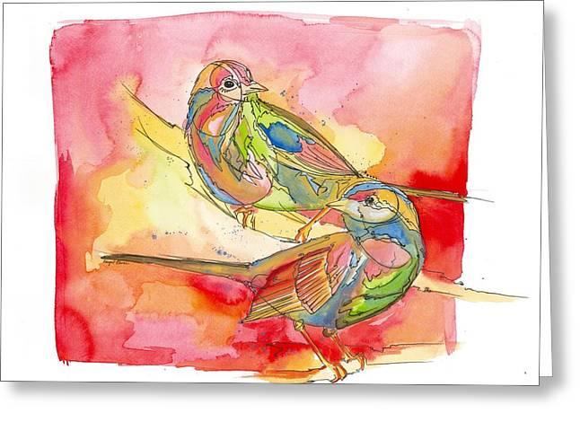 Blackburn Greeting Card by Abigail Elaine