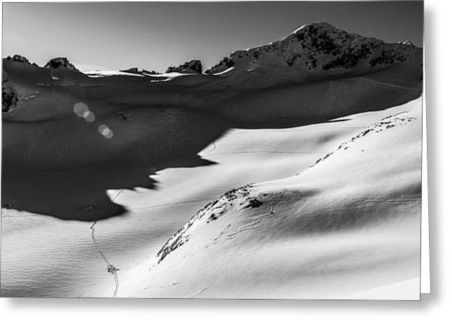 British Columbia Greeting Cards - Blackcomb Backcountry Greeting Card by Ian Stotesbury