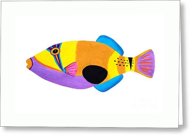Blackpatch Triggerfish  Greeting Card by Opas Chotiphantawanon