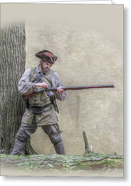 Citizens Greeting Cards - Blackpowder Woodsman Greeting Card by Randy Steele