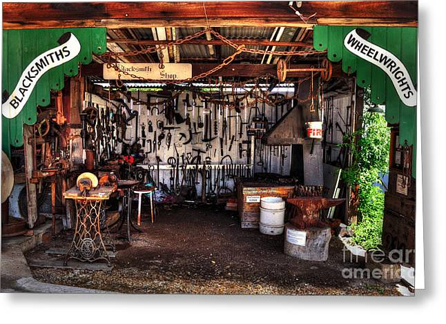 Metal Roof Greeting Cards - Blacksmith Shop by Kaye Menner Greeting Card by Kaye Menner