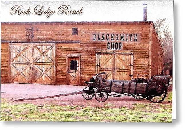 Ledge Greeting Cards - Blacksmith Shop Greeting Card by Cristophers Dream Artistry