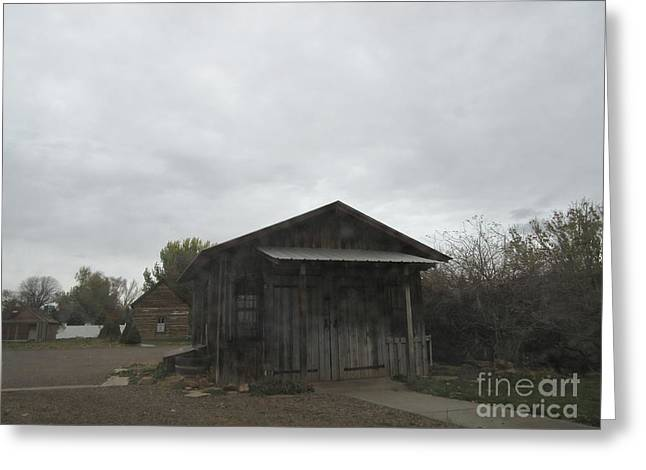 Town Mixed Media Greeting Cards - Blacksmith Shop Greeting Card by Frederick Holiday
