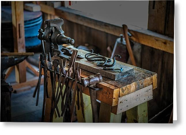 Farrier Greeting Cards - Blacksmith Tools Greeting Card by Paul Freidlund