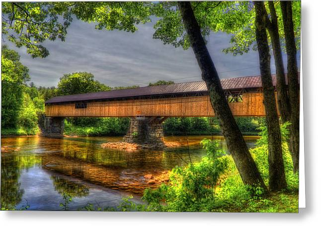Peaceful Scene Greeting Cards - Blair Bridge - Campton NH Greeting Card by Joann Vitali