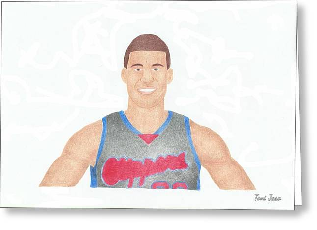 Slam Drawings Greeting Cards - Blake Griffin Greeting Card by Toni Jaso