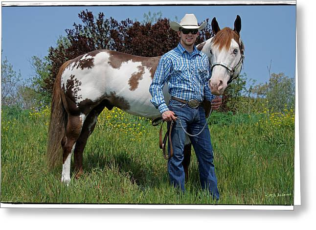 Owner Greeting Cards - Blake J and Dealer Greeting Card by Mick Anderson