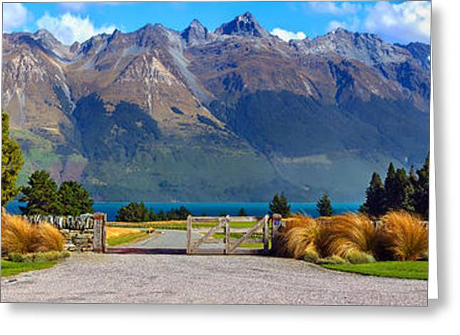 Rural Landscapes Greeting Cards - Blanket Bay and Mt Bonpland Greeting Card by Bill  Robinson