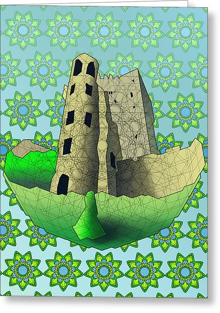 Blarney Castle Greeting Card by Dusty Conley