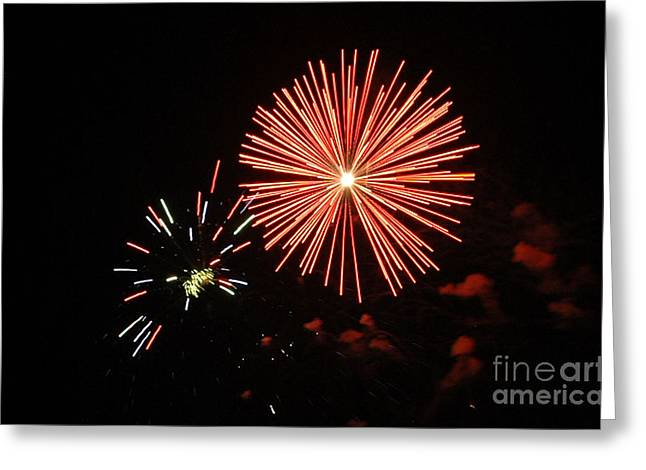 Blast And A Half Greeting Card by Norman  Andrus