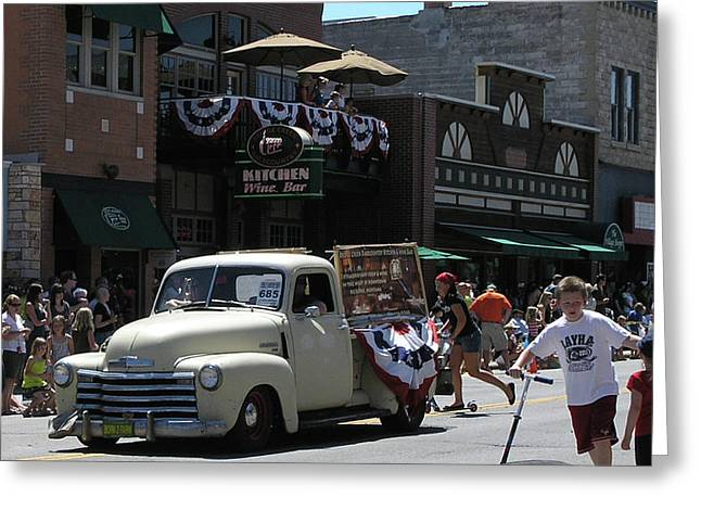 4th Of July Parade Greeting Cards - Blast from the Past - Truck Greeting Card by Janis Shortridge