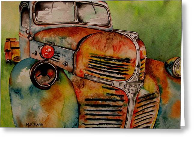 Junk Yard Greeting Cards - Blast from the past Greeting Card by Maria Barry