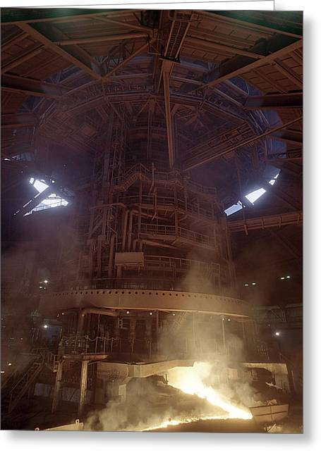Blast Furnace For Steel Production Greeting Card by Ria Novosti