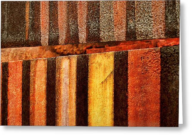 Historic Site Greeting Cards - Blast Furnace - Iron Ore - Abstract - #2  Greeting Card by Nikolyn McDonald