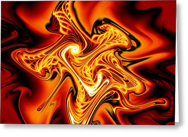 Abstract Digital Greeting Cards - Blazing Cipher Greeting Card by Vicky Brago-Mitchell