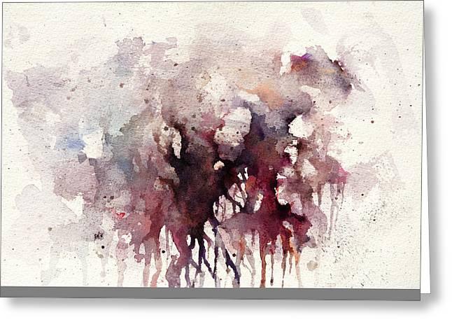 Tree Roots Paintings Greeting Cards - Bleeding Root Greeting Card by Rachel Christine Nowicki