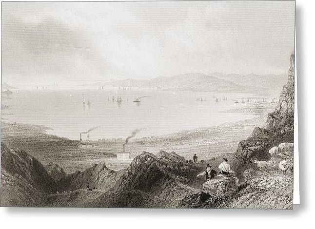 Blefast Greeting Cards - Blefast Lough, Ireland.drawn By Greeting Card by Ken Welsh