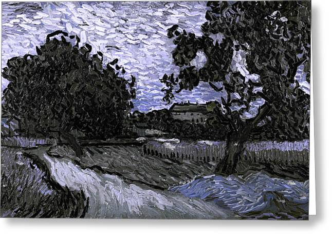 Impressionist Greeting Cards - Blend 13 van Gogh Greeting Card by David Bridburg