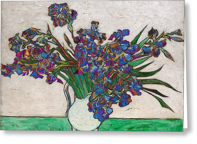 Dutch Greeting Cards - Blend 16 van Gogh Greeting Card by David Bridburg