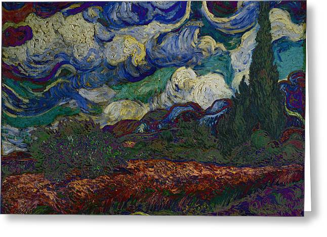 Blend 19 Van Gogh Greeting Card by David Bridburg