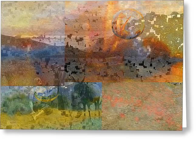 Layers Greeting Cards - Blend IIl Luce Greeting Card by David Bridburg